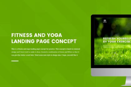 Free Fitness & Yoga Landing Page