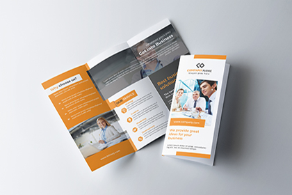 Free Handy Trifold Brochure Template