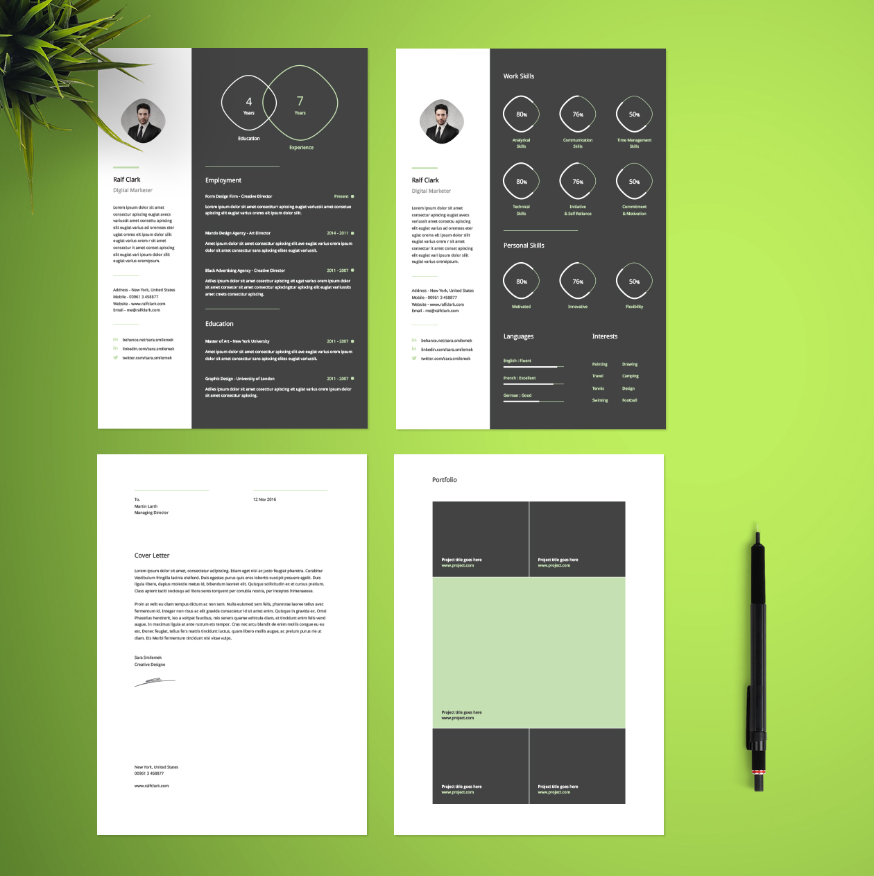 Free Infographic Resume Template Free Infographic Resume Template
