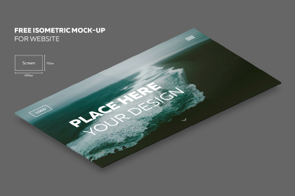 Free Isometric PSD Mockup