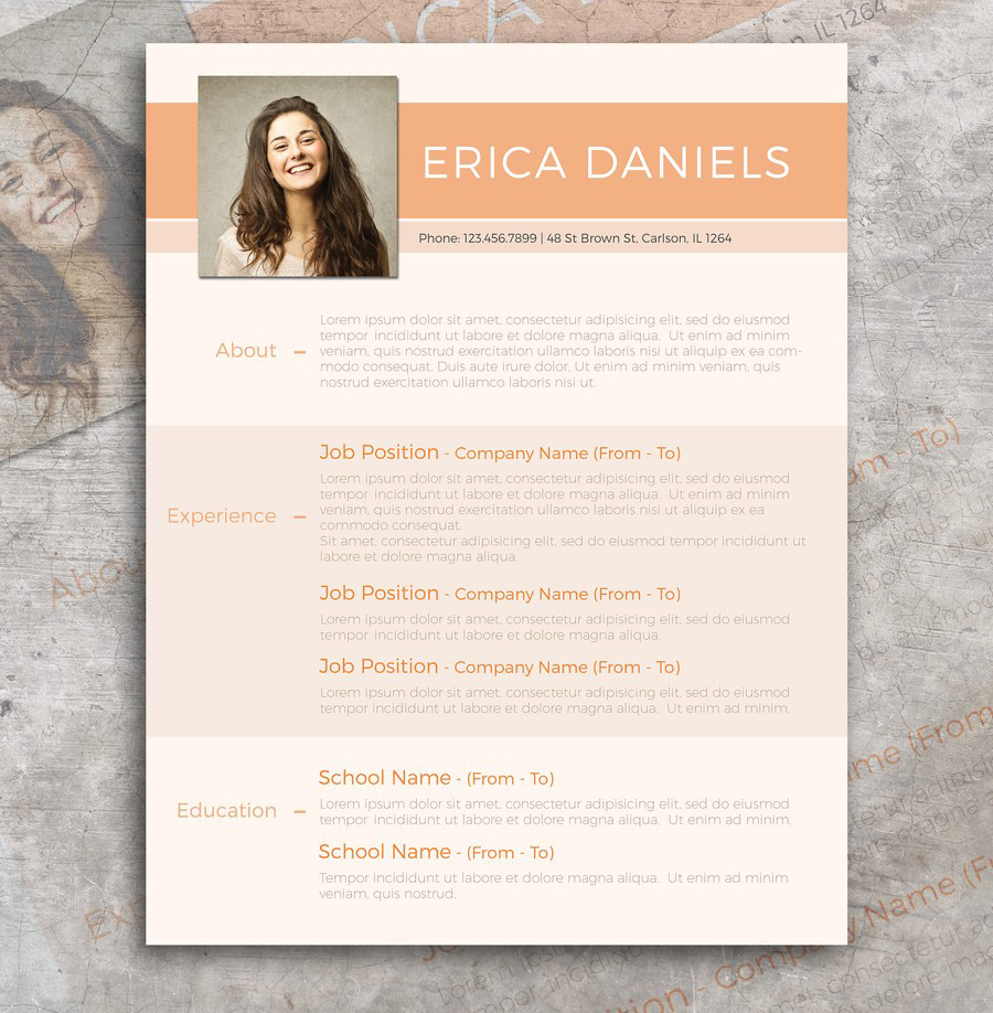 Free Modern Resume Template  Design Resume Templates Free
