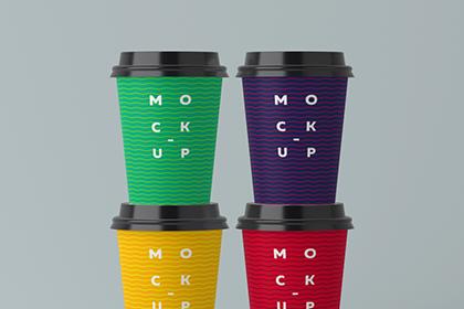 Free Papercup PSD Mockup