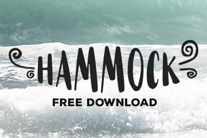 Hammock Free Handmade Font