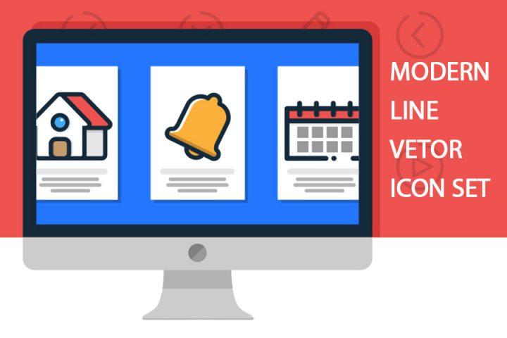 Modern Line Vector Icon Set