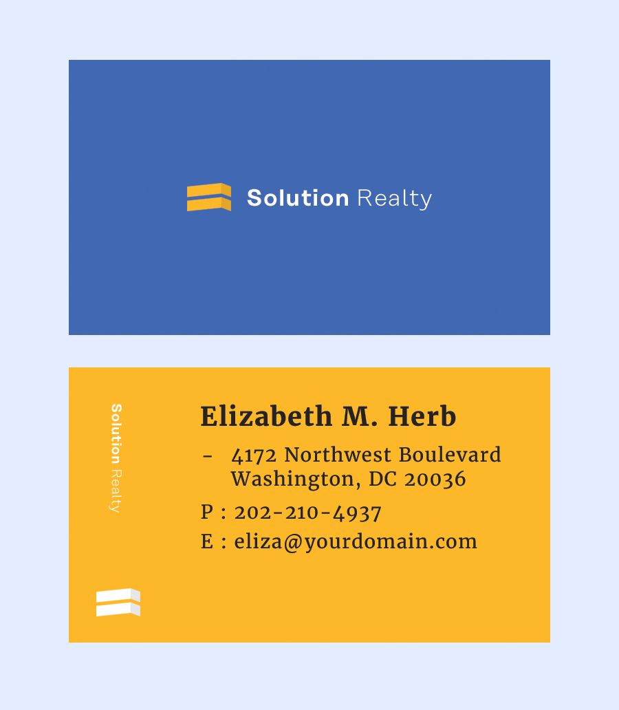 modern business card template � free design resources
