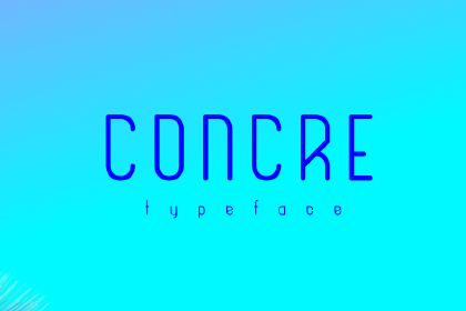 Concre Free Typeface