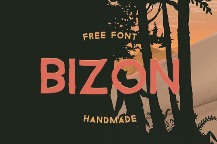 Bizon Free Handmade Typeface