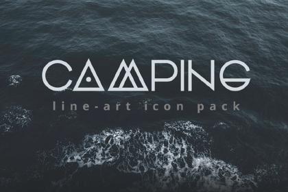 Camping Free Line Icon Set