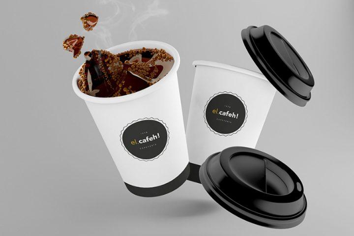 El Cafeh Free Coffee Cup Mockup