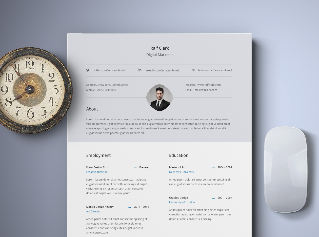 free classy resume template - Classy Resume Template