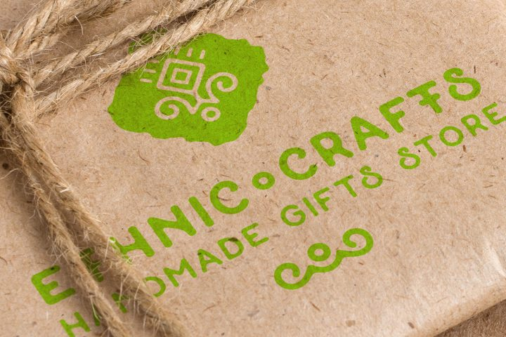 Free Craft Packaging PSD Mockup