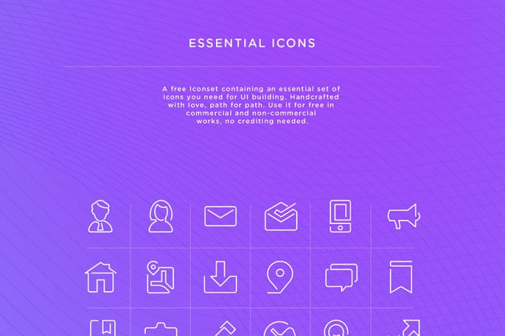 Free Essential Vector UI Icons