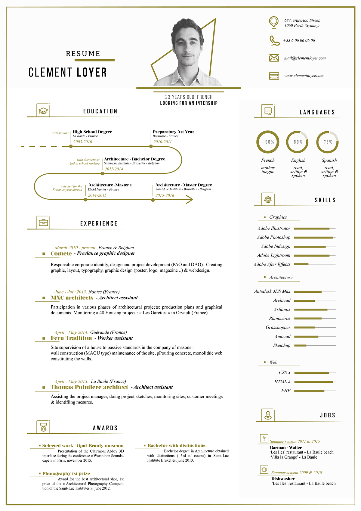 Free Fresh Resume Template