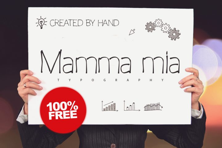 Free Mamma Mia Typeface
