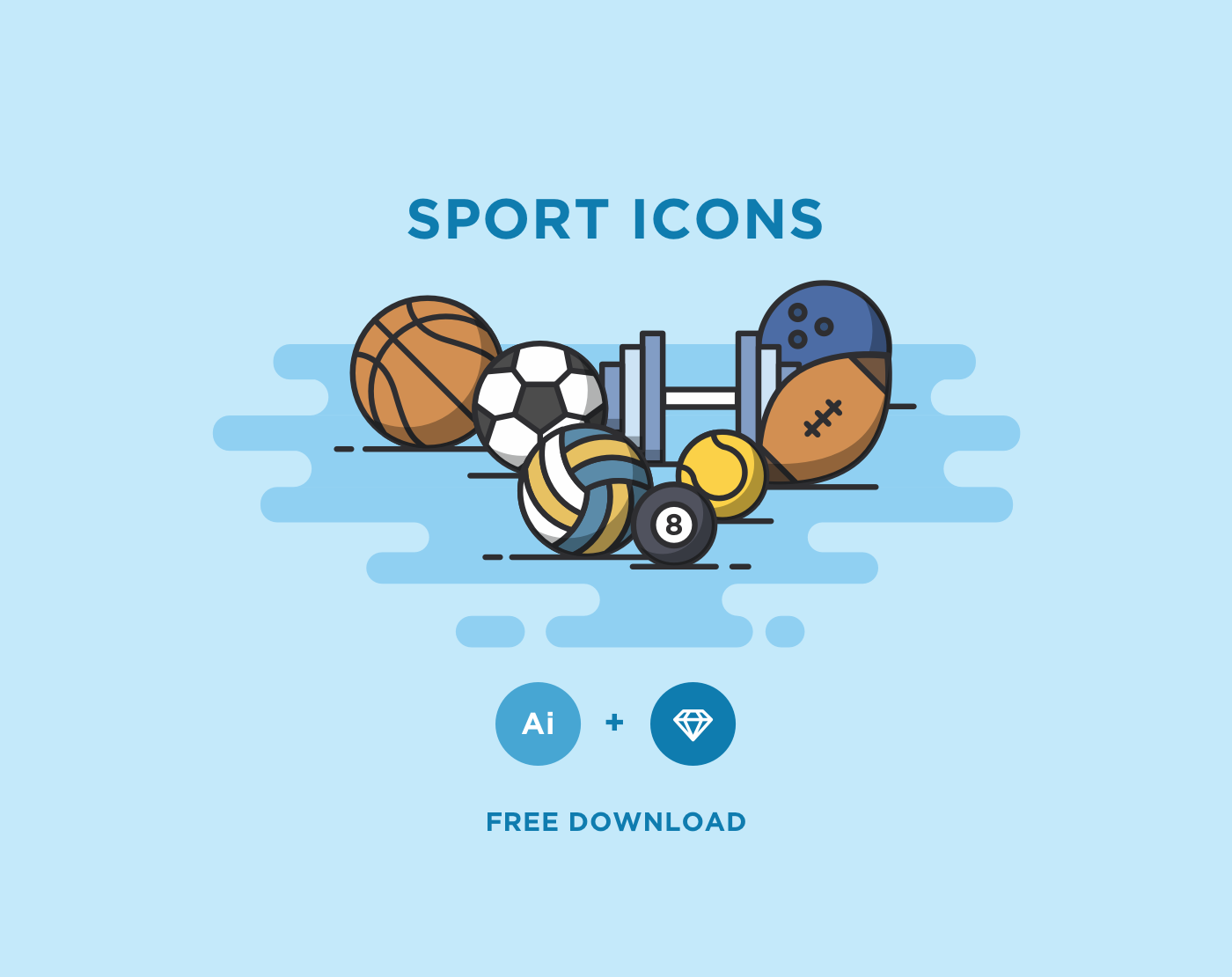 Free Minimal Sport Vector Icons — Free Design Resources