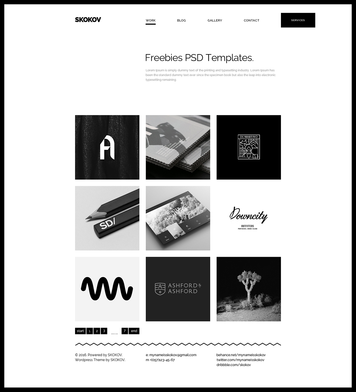 Free personal portfolio template free design resources for Graphic designer portfolio template free download