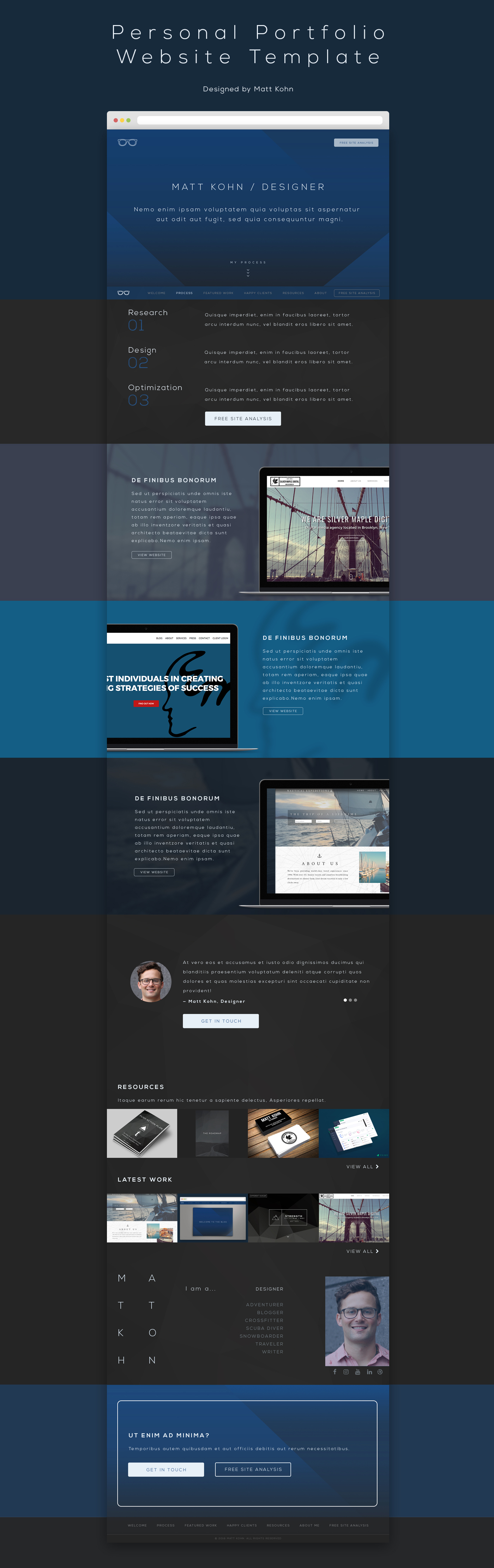 Free personal portfolio website template free design for Free portfolio website templates