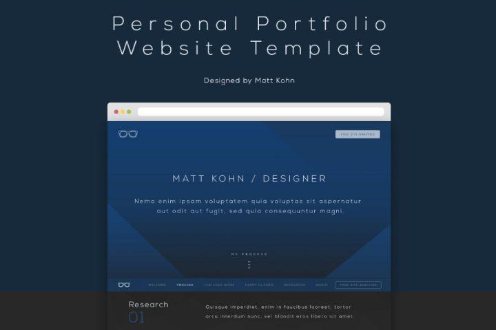 Free Personal Portfolio Website Template