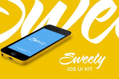 Sweety iOS UI Kit Free Samples