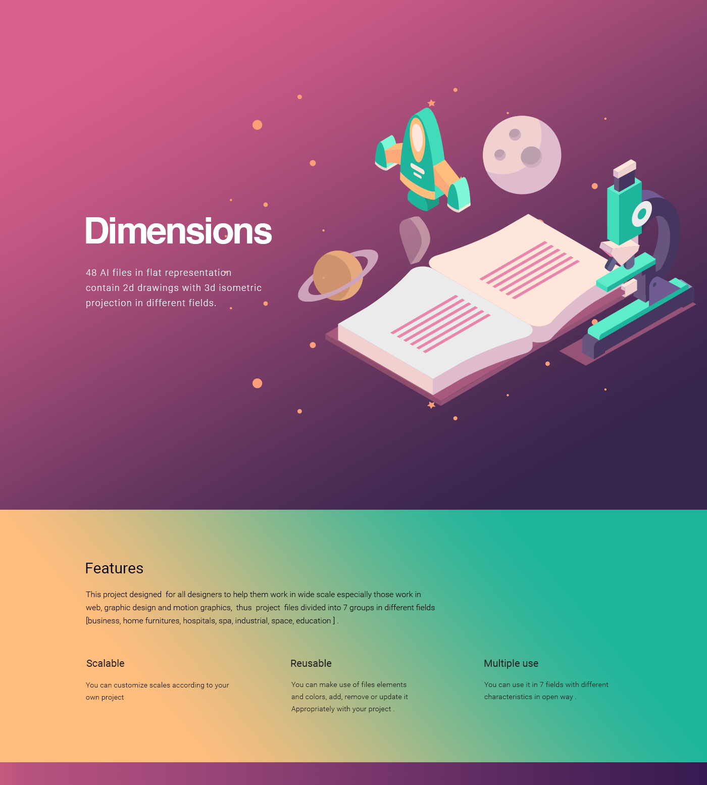 Dimension Free 48 Isometric Shape