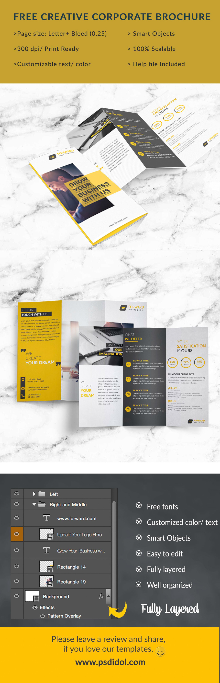 Free creative corporate trifold brochure free design resources free creative corporate trifold brochure saigontimesfo