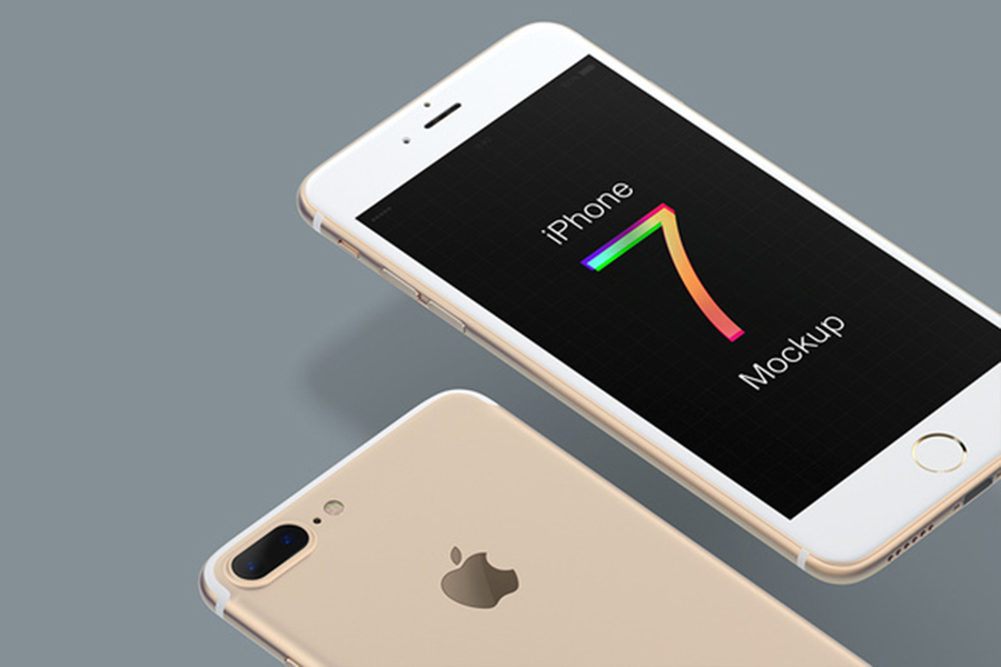 Free Multicolor iPhone 7 Mockup