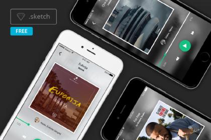 Free Music Mobile App Design