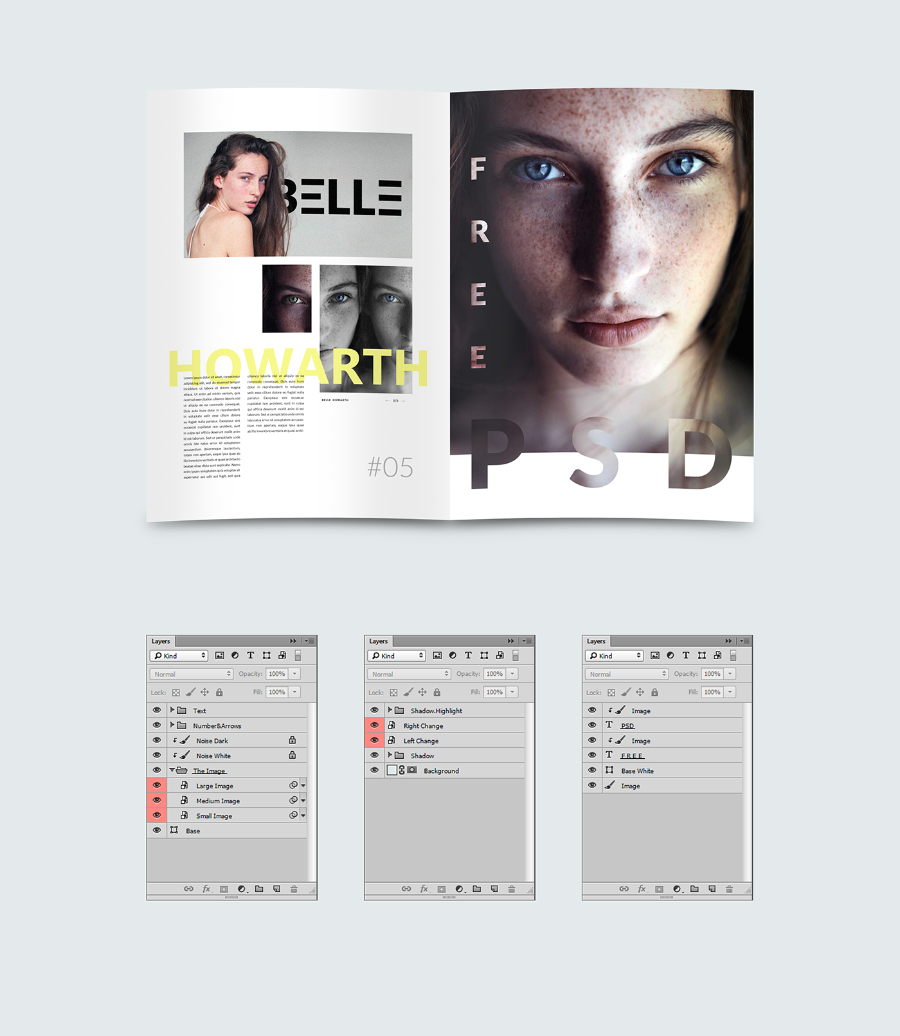 Free PSD Magazine Template - Free Design Resources