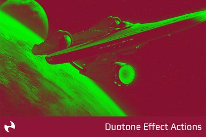 Free Photoshop Duotone Action Set