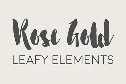 Free Gold Rose Leafy Elements