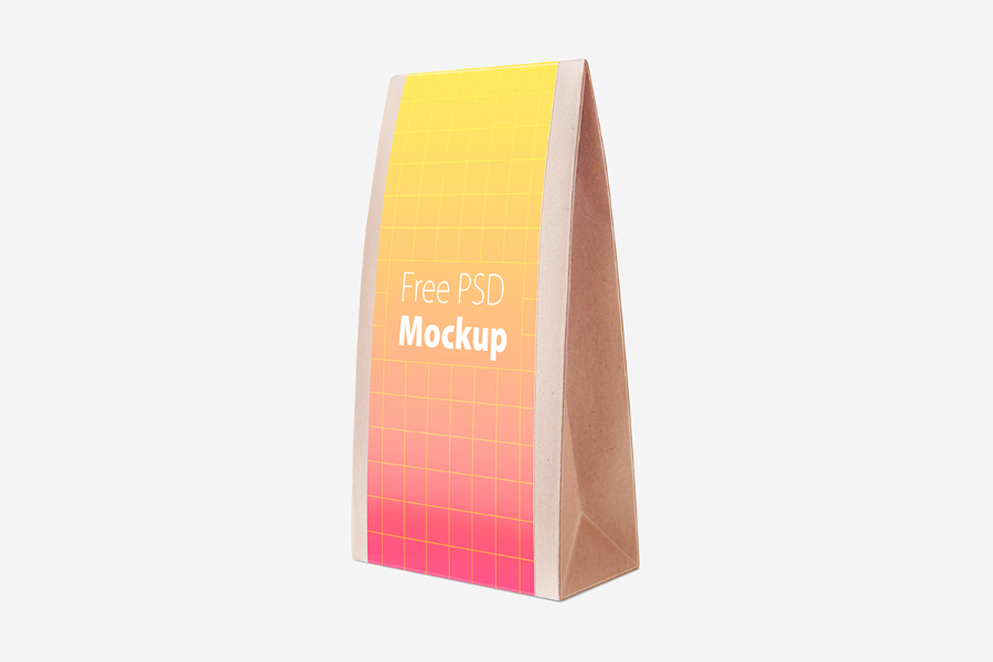 Free Triangular Packaging Mockup