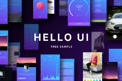 Hello UI Kit Free Sample