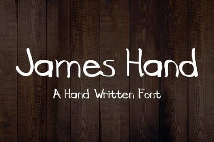 James Free Handwriting Font