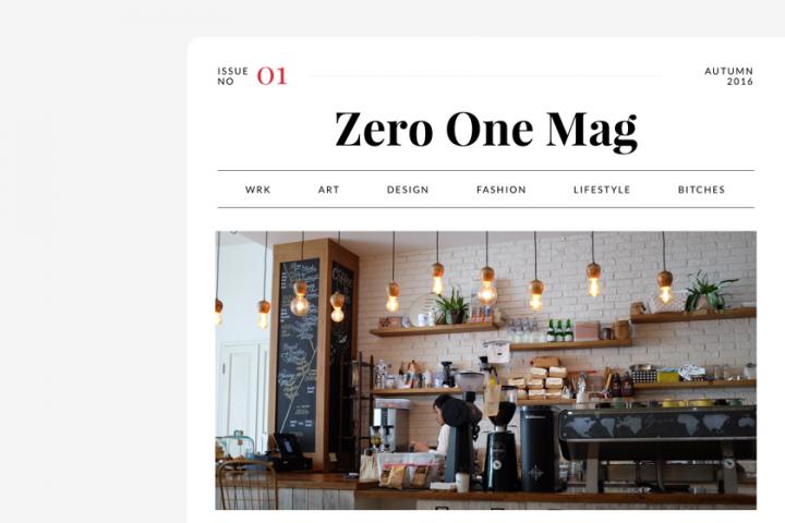 Zero One Magazine Free Demo