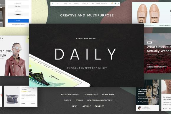 Daily UI Kit - Free Sample