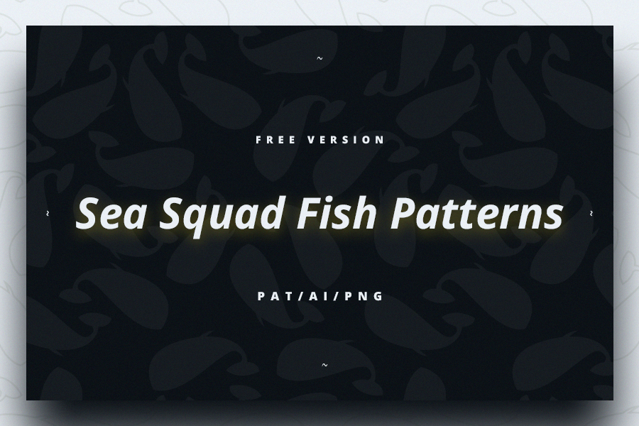 Sea Squad Fish Pattern Free