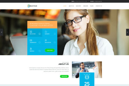 Consult Plus Free PSD Template
