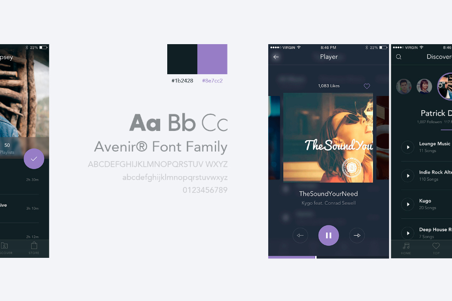 Free Mobile Music App UI Kit