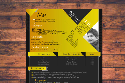 Free Modern Resume Template Design