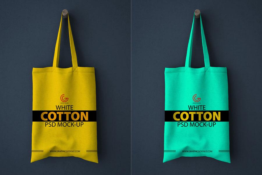 Free White Cotton Bag Mockup