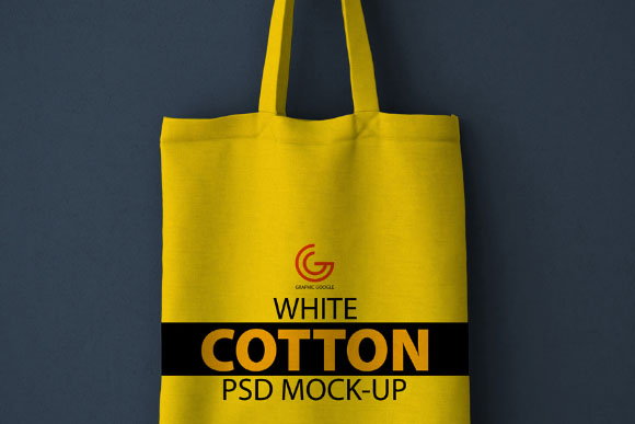 Free White Cotton Bag Mockup