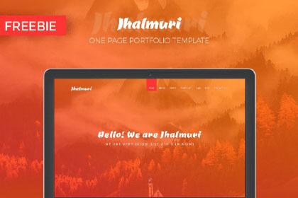 Jhalmuri Free One Page Portfolio Template