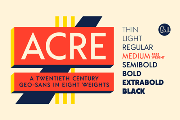 Acre Typeface Free Weight