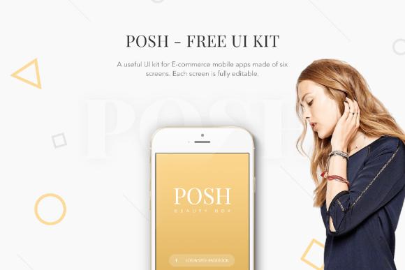 POSH Free PSD Mobile UI Kit