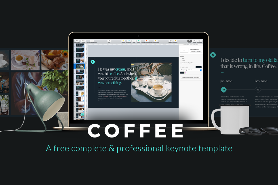 Coffee Free Keynote Template — Free Design Resources