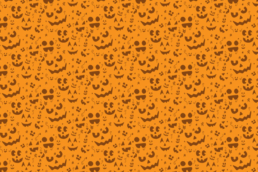 Free Hand drawn Halloween Pattern - Free Design Resources