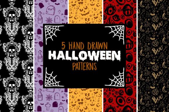 Free Hand drawn Halloween Pattern