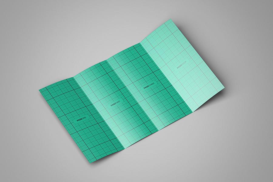 Double GateFold Brochure Mockup