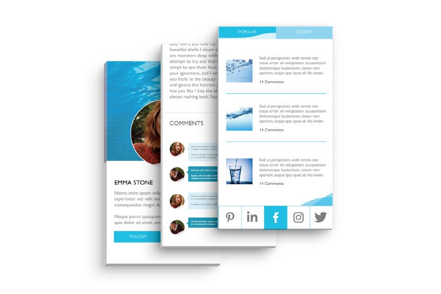 Water Free UI Kit Design