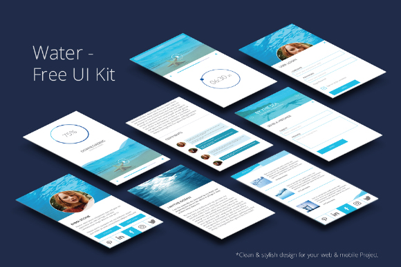 Water Free UI Kit Design